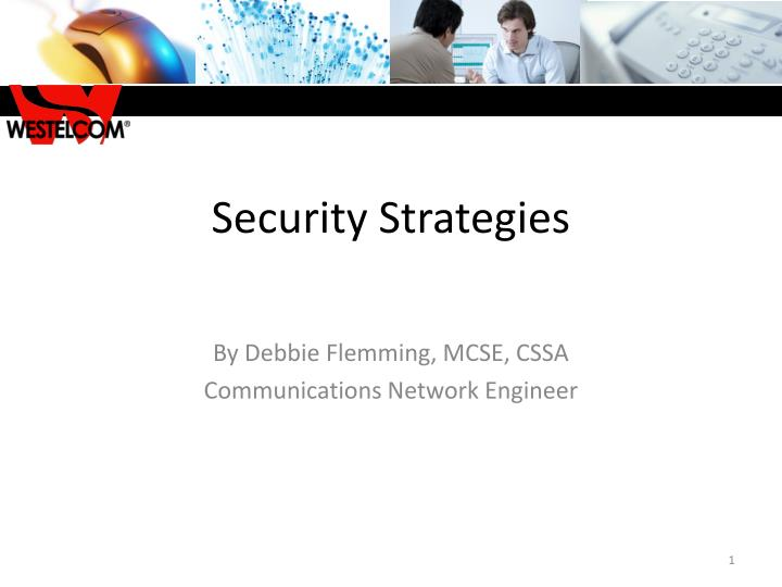 Security strategies
