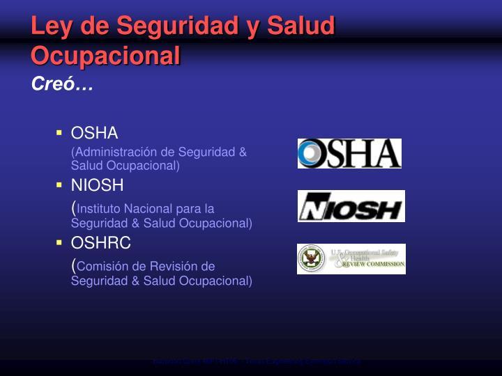 Ley de Seguridad y Salud Ocupacional