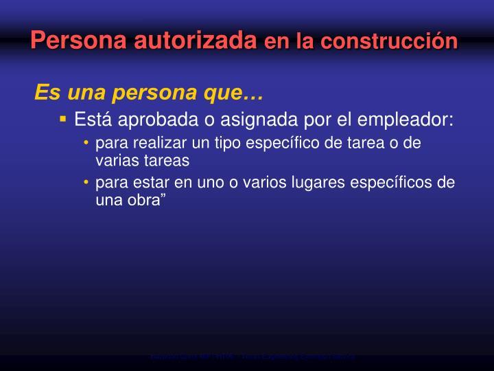 Persona autorizada