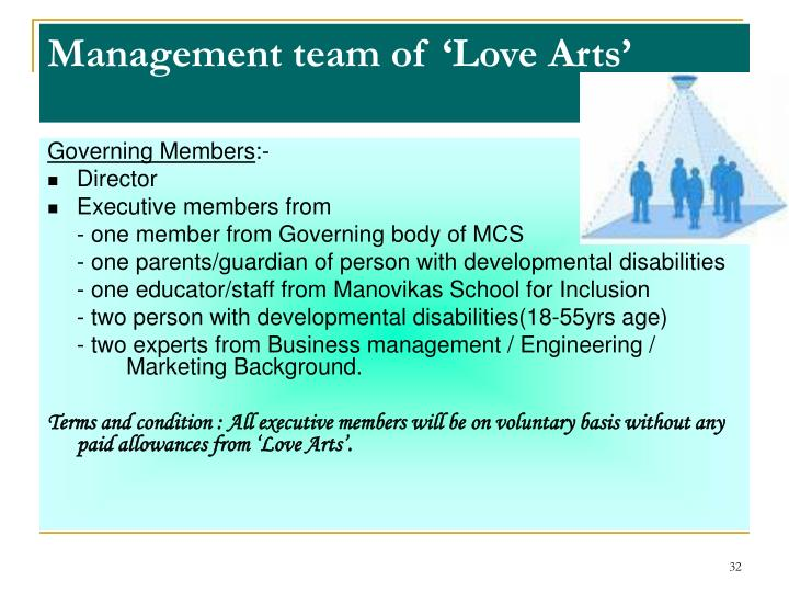 Management team of 'Love Arts'