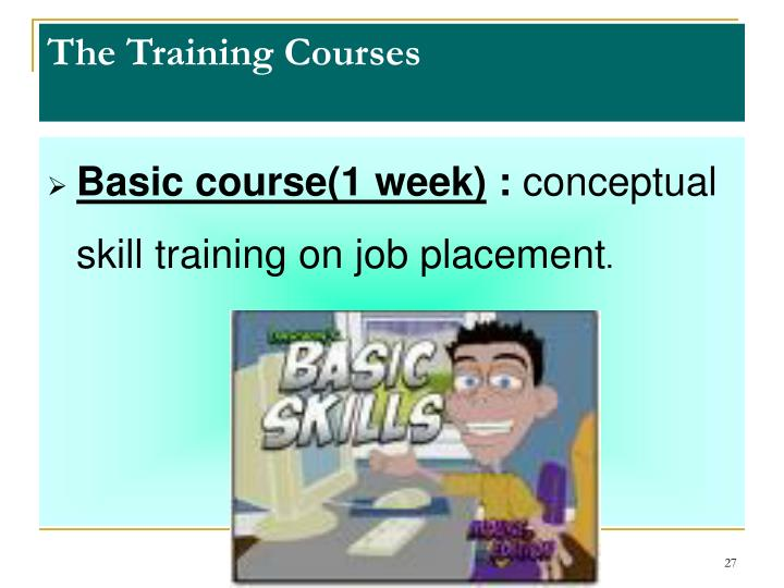 The Training Courses