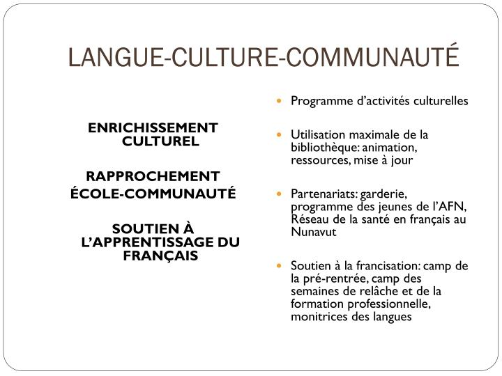 LANGUE-CULTURE-COMMUNAUTÉ