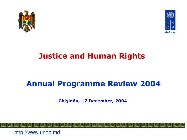 Justice and human rights