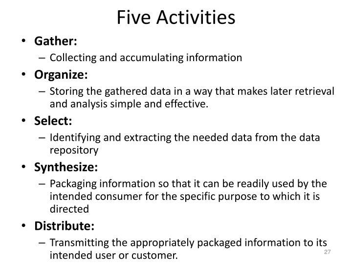 Five Activities