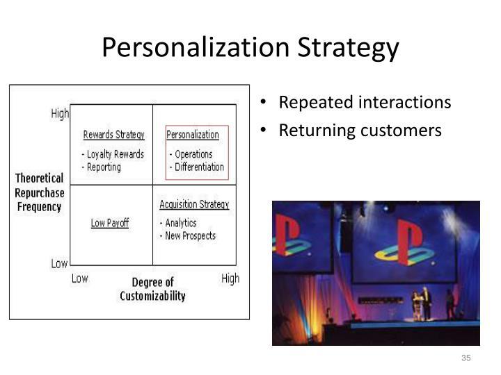 Personalization Strategy