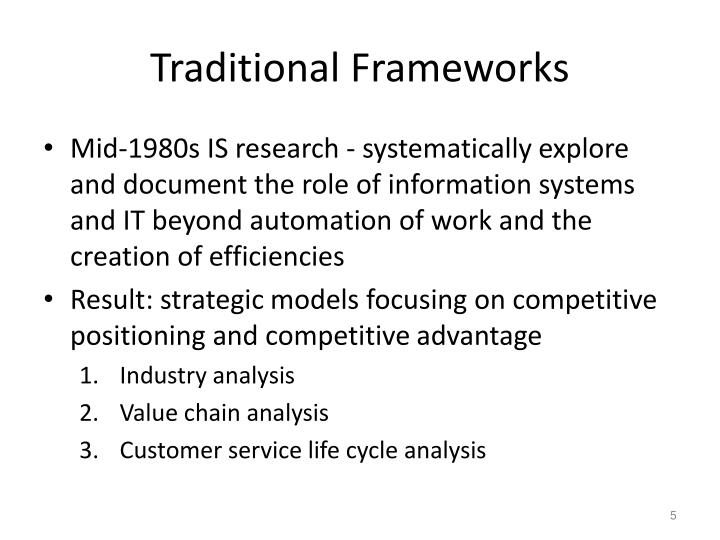 Traditional Frameworks