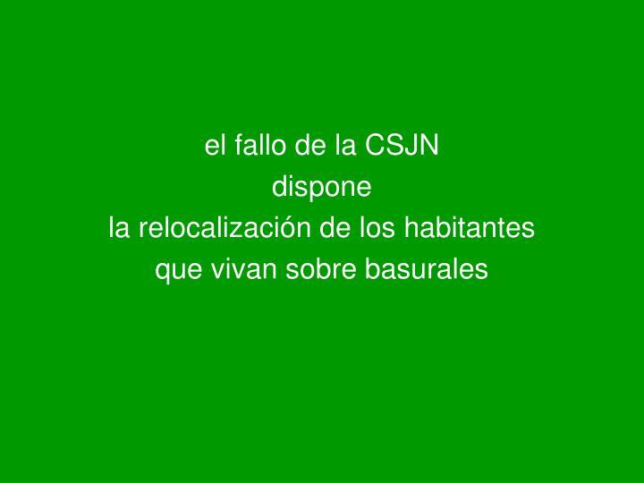 el fallo de la CSJN