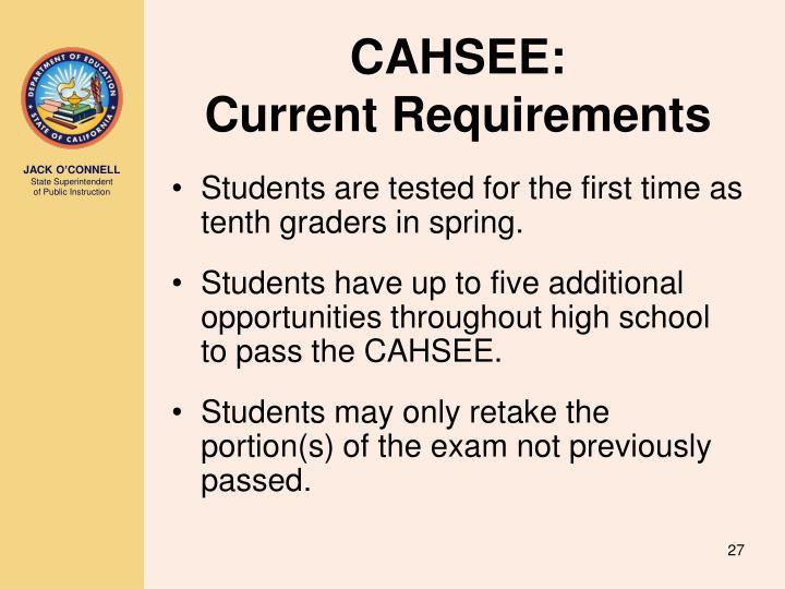 CAHSEE: