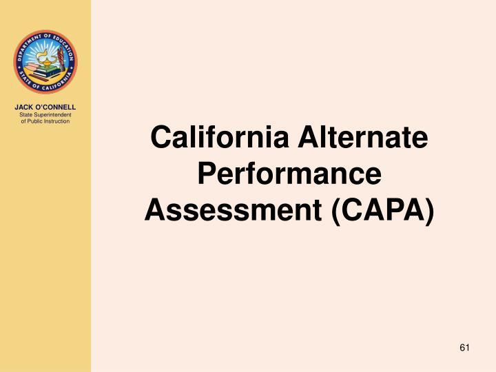 California Alternate Performance Assessment (CAPA)