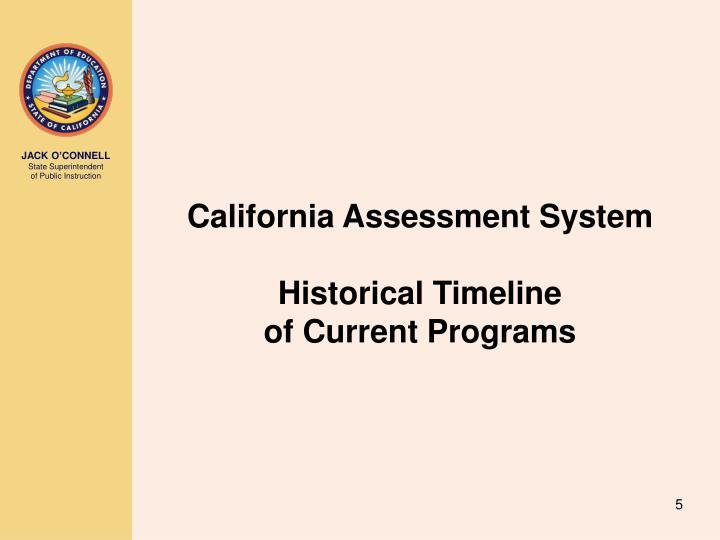 California Assessment System