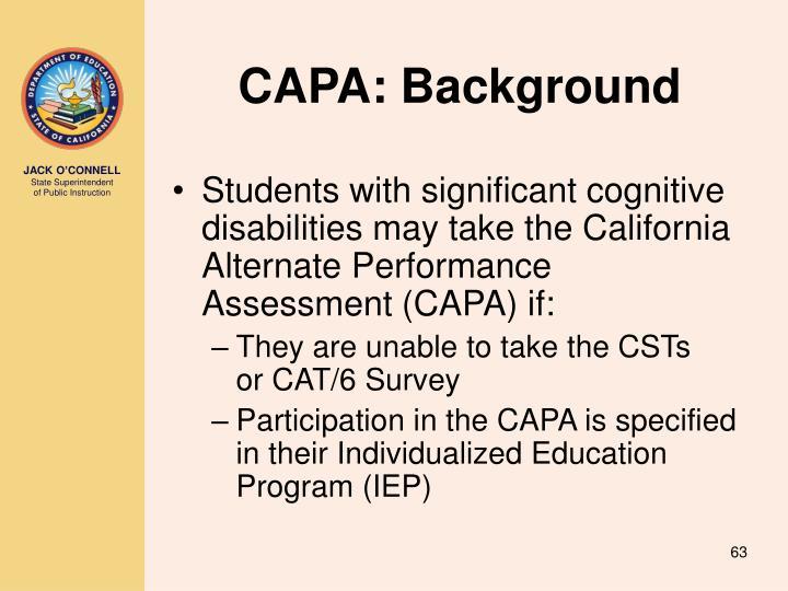CAPA: Background