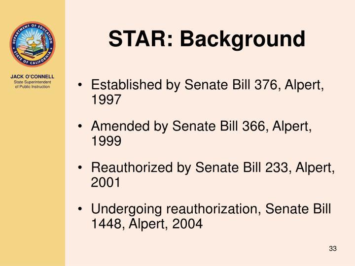 STAR: Background