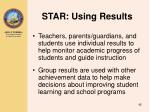 star using results