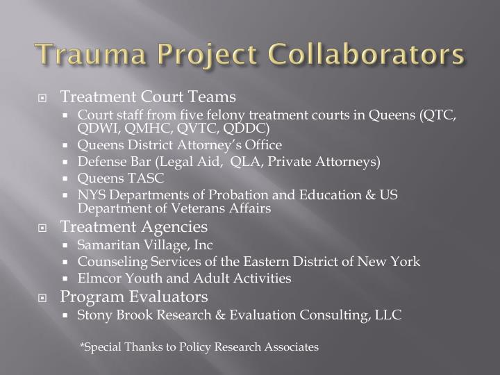 Trauma project collaborators