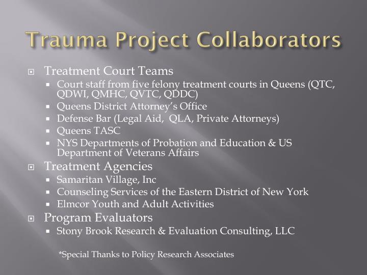 Trauma Project Collaborators