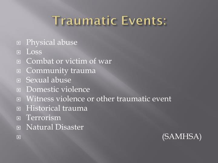 Traumatic Events: