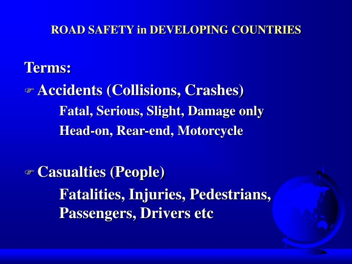 Road safety in developing countries2