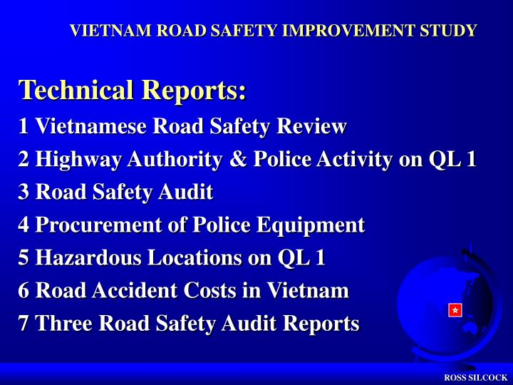 VIETNAM ROAD SAFETY IMPROVEMENT STUDY