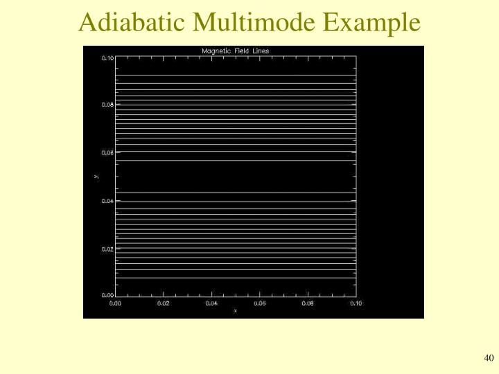 Adiabatic Multimode Example