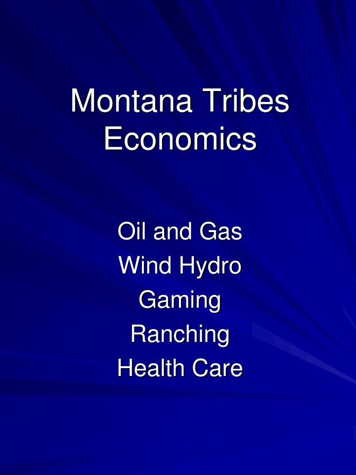 Montana Tribes Economics