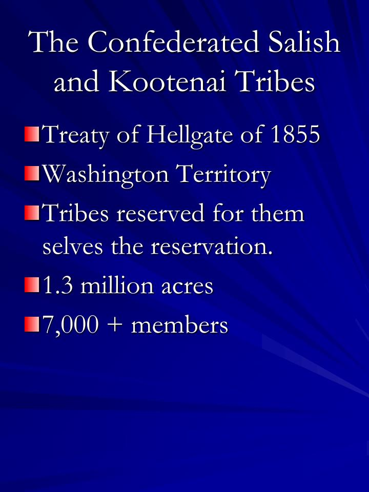 the confederated salish and kootenai tribes