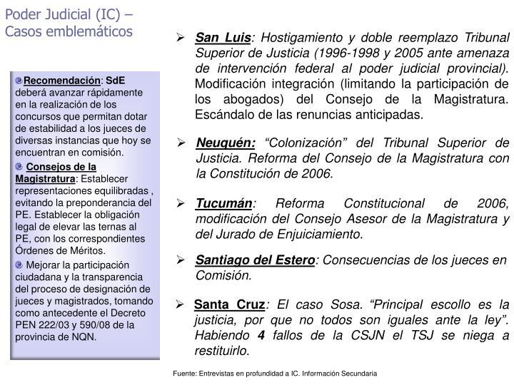 Poder Judicial (IC) –