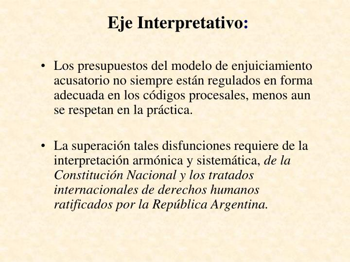 Eje Interpretativo