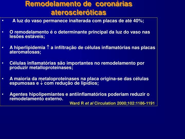 Remodelamento de  coronárias ateroscleróticas