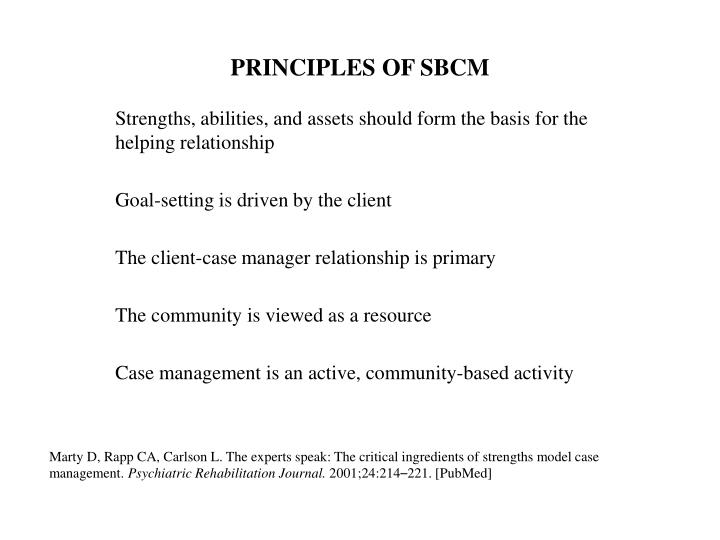 PRINCIPLES OF SBCM