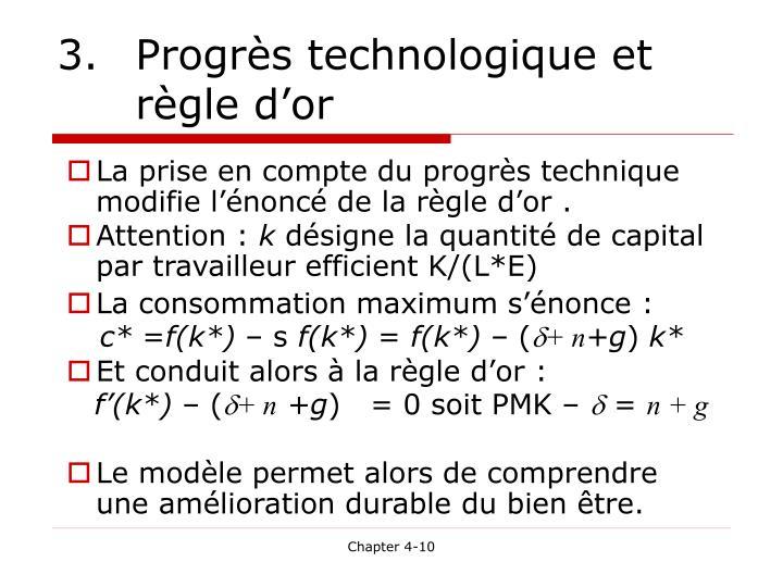 3. Progrès technologique et règle d'or