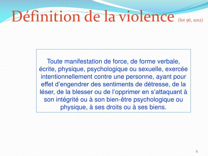 Définition de la violence