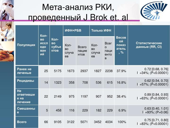 Мета-анализ РКИ, проведенный