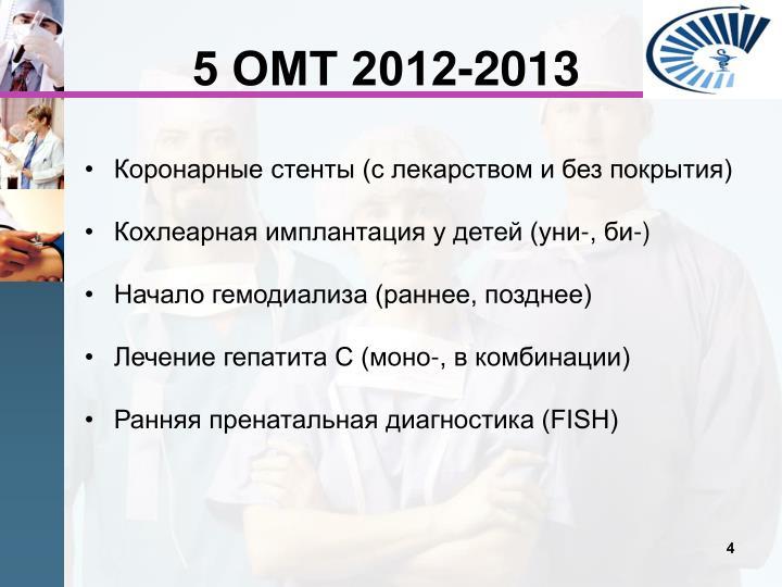5 ОМТ 2012-2013
