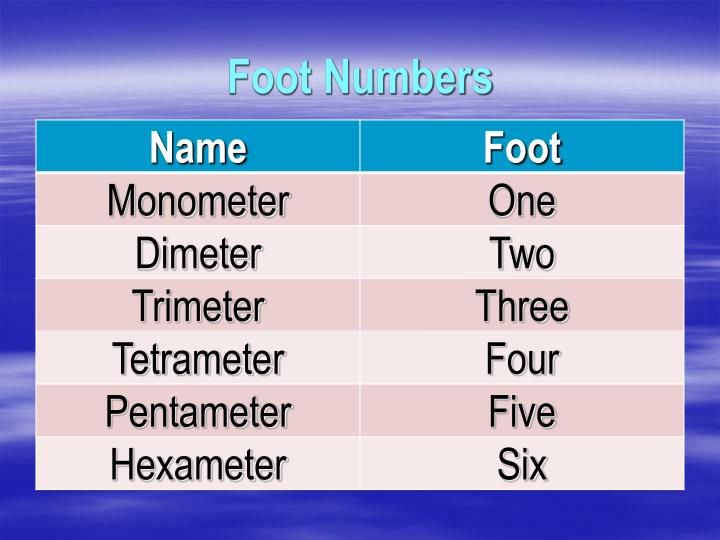 Foot Numbers