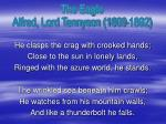 the eagle alfred lord tennyson 1809 1892