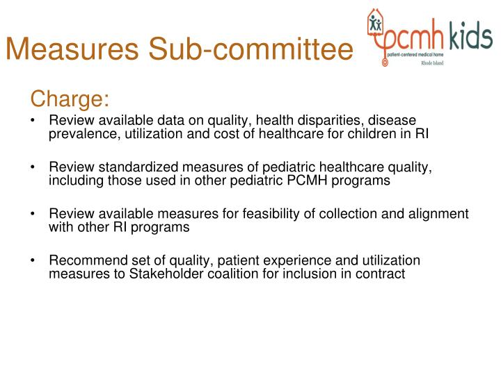 Measures Sub-committee
