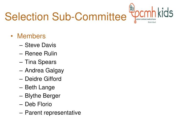 Selection Sub-Committee