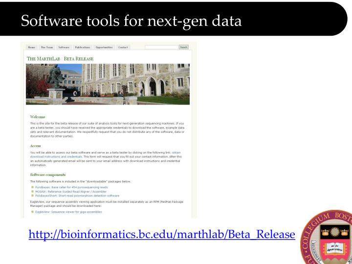 Software tools for next-gen data