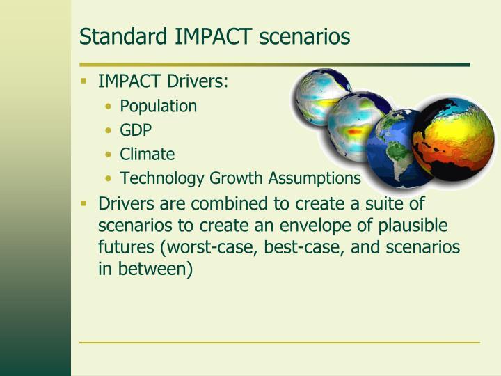 Standard IMPACT scenarios