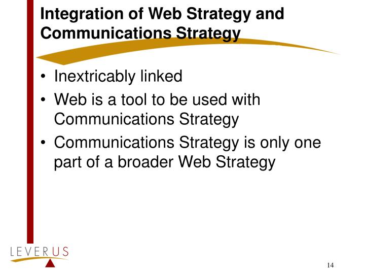 Integration of Web Strategy and Communications Strategy
