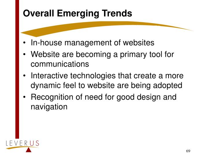 Overall Emerging Trends