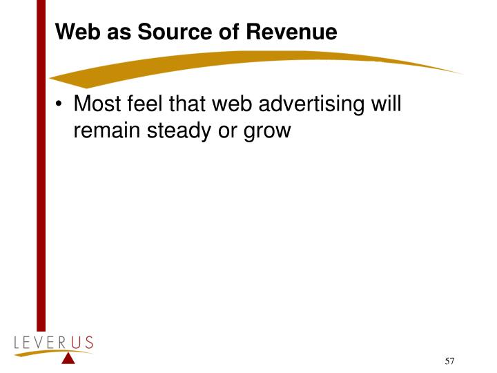 Web as Source of Revenue