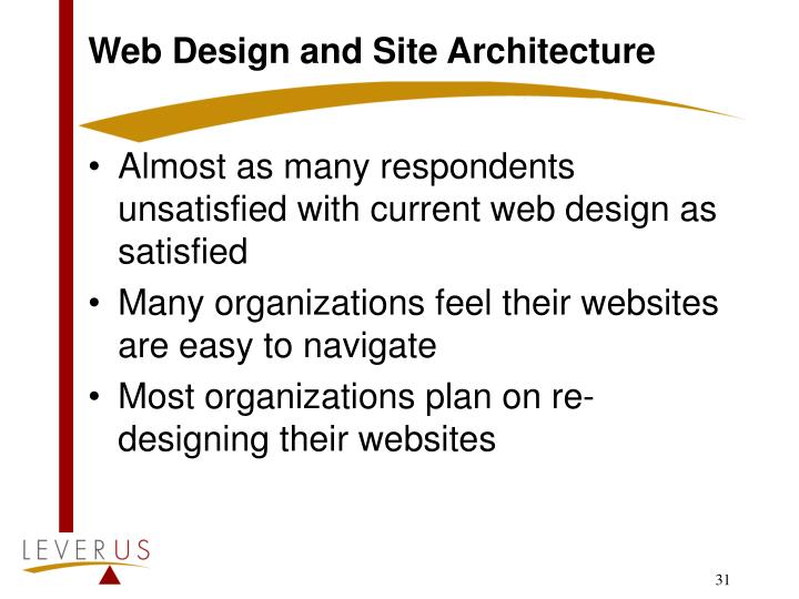 Web Design and Site Architecture