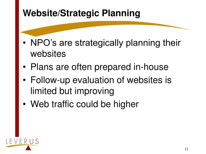 Website/Strategic Planning