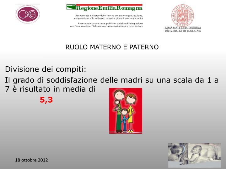 RUOLO MATERNO E PATERNO