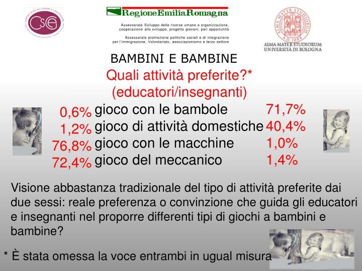 BAMBINI E BAMBINE
