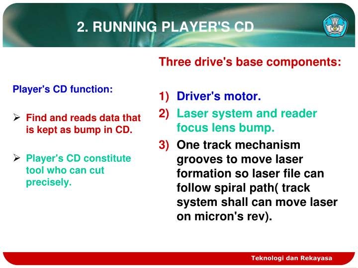 Player's CD function: