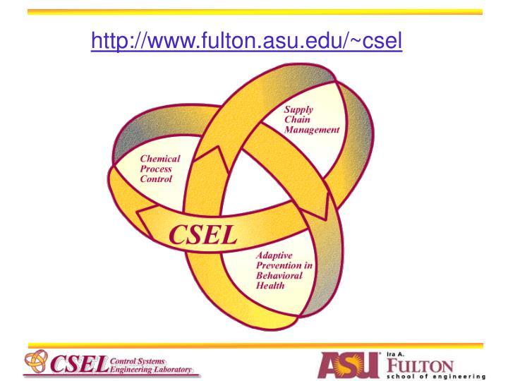 http://www.fulton.asu.edu/~csel