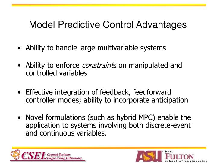 Model Predictive Control Advantages