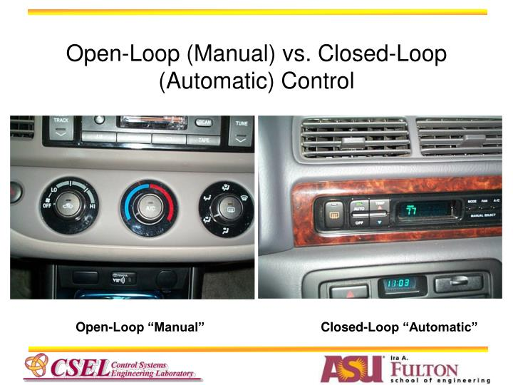Open-Loop (Manual) vs. Closed-Loop (Automatic) Control